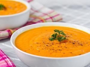 Carrot Apple Ginger Soup Healthy Recipe
