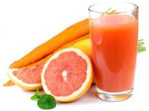 Carrot-Orange-Grapefruit Juice Healthy Recipe