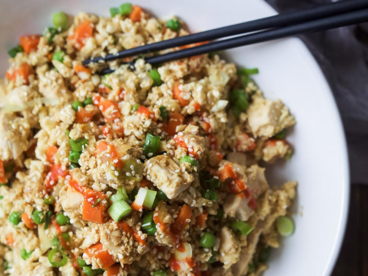 Cauliflower Chicken Fried Rice Healthy Recipe