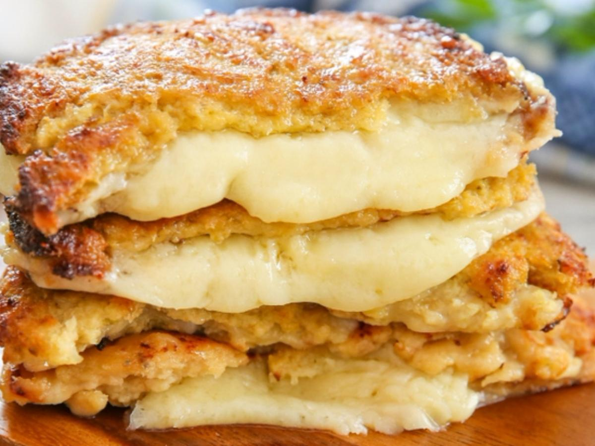 Cauliflower Crusted Grilled Cheese Sandwiches Healthy Recipe