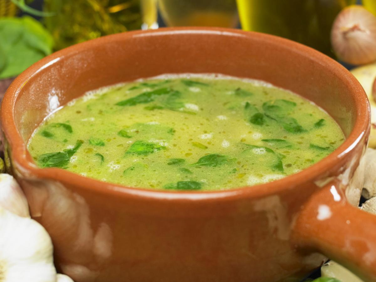 Celery, Onion and Spinach Soup Healthy Recipe