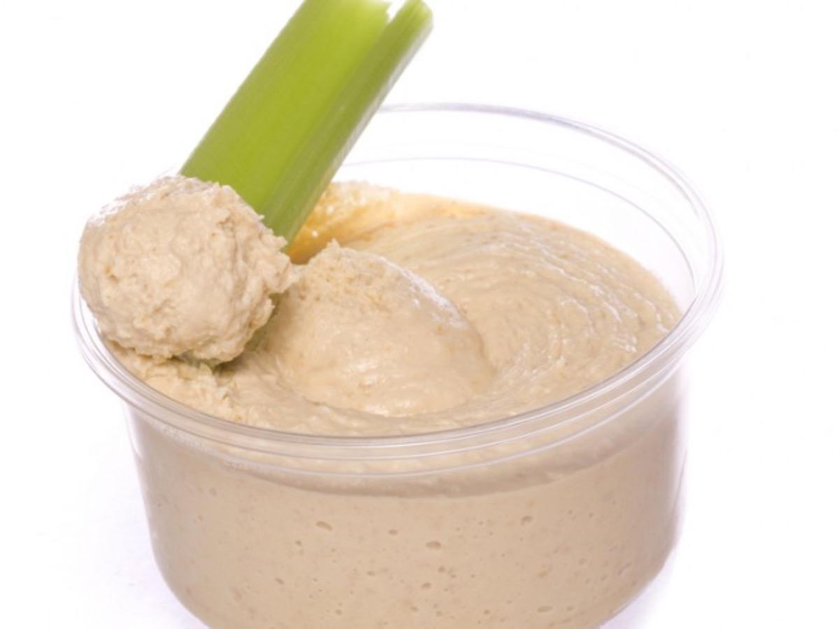 Celery with Homemade Hummus Healthy Recipe