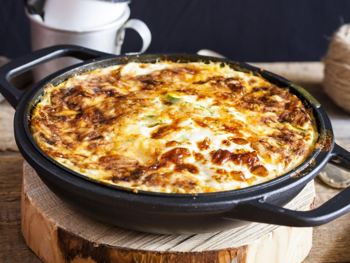Cheesy Baked Zucchini Noodle Casserole Healthy Recipe