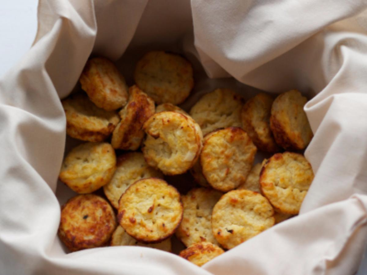 Cheesy Cauliflower Biscuits Healthy Recipe
