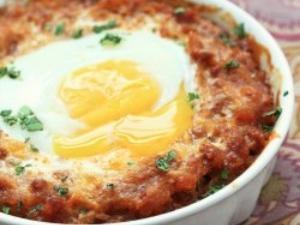 Cheesy Chorizo & Spaghetti Squash Egg Bake Healthy Recipe