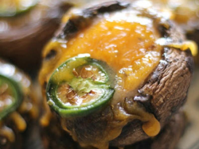 Cheesy Mushroom Bites Healthy Recipe