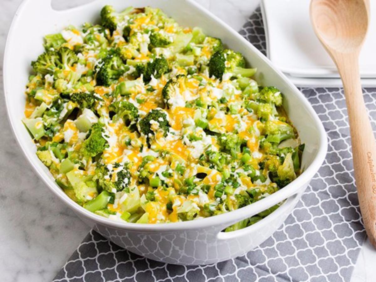 Cheesy Twice-Baked Potato and Broccoli Casserole Healthy Recipe
