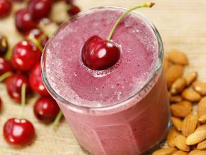 Cherry Berry Protein Smoothie Healthy Recipe
