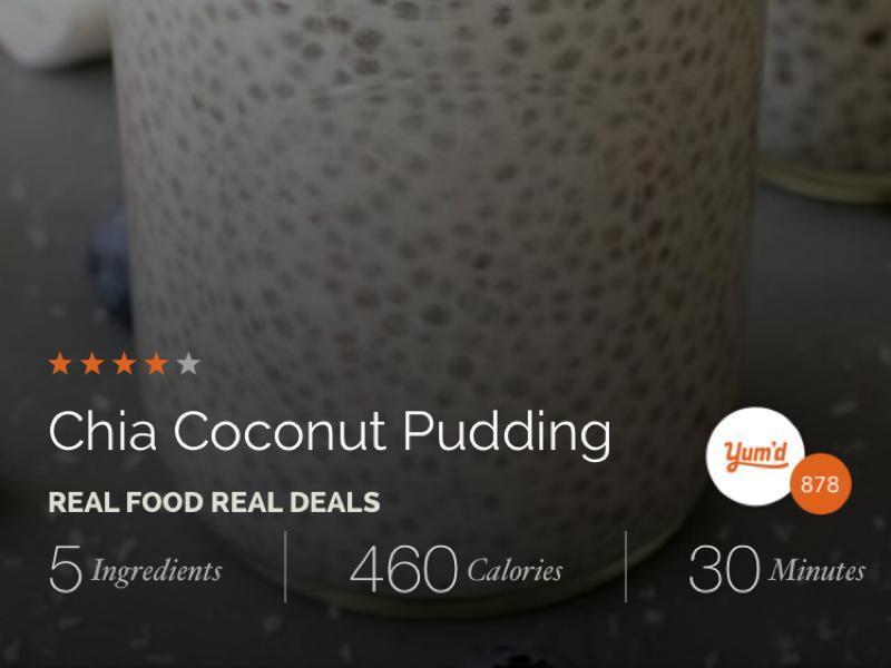 Chia Coconut Pudding Healthy Recipe