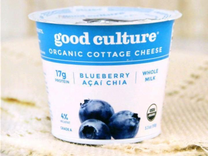 Chia Cottage Cheese with Blueberries Healthy Recipe