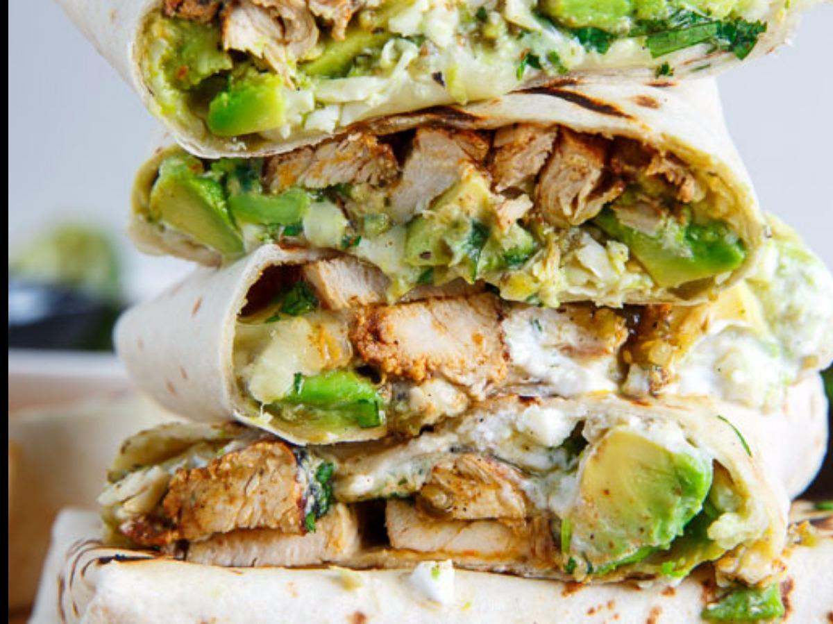 Chicken and Avocado Burrito Healthy Recipe