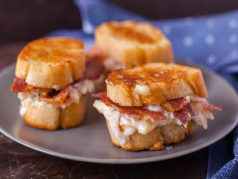 Chicken and Bacon Pan-Fried Sandwiches Healthy Recipe