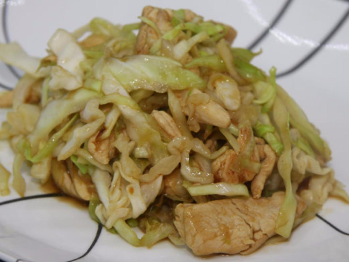 Chicken and Cabbage Stir Fry Healthy Recipe