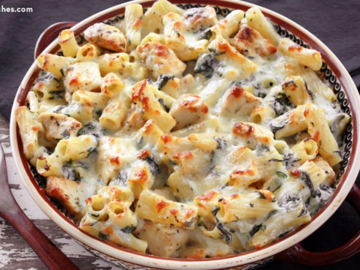 Chicken and Spinach Pasta Bake Healthy Recipe