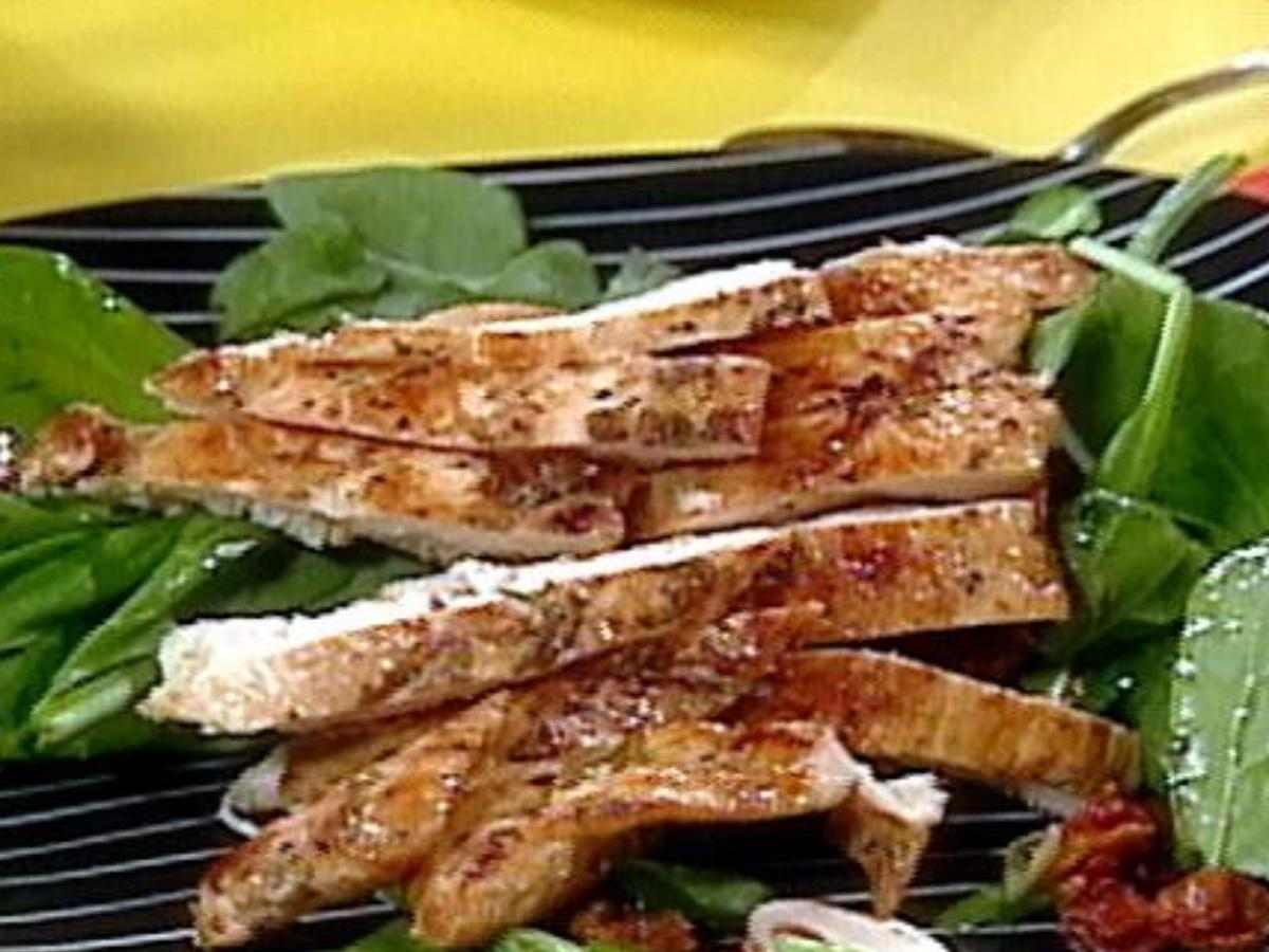 Chicken and Spinach Salad Healthy Recipe