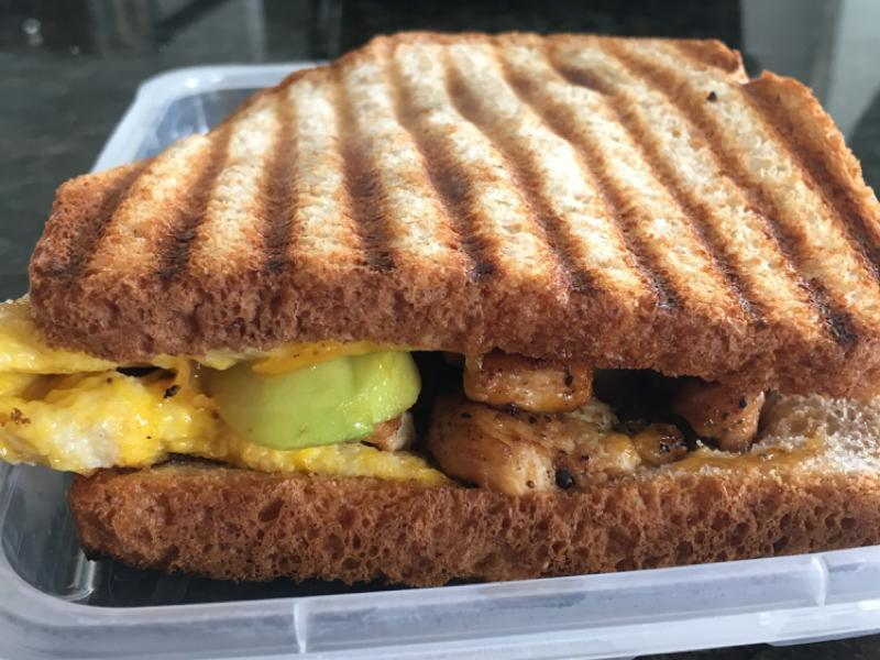 Chicken Avocado Breakfast Sandwich Healthy Recipe