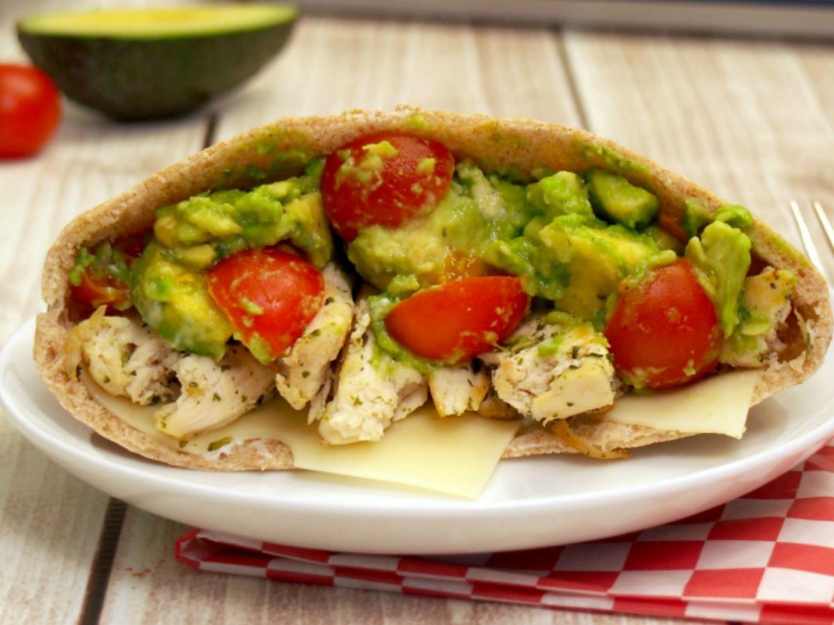 Chicken Avocado Pitas Healthy Recipe