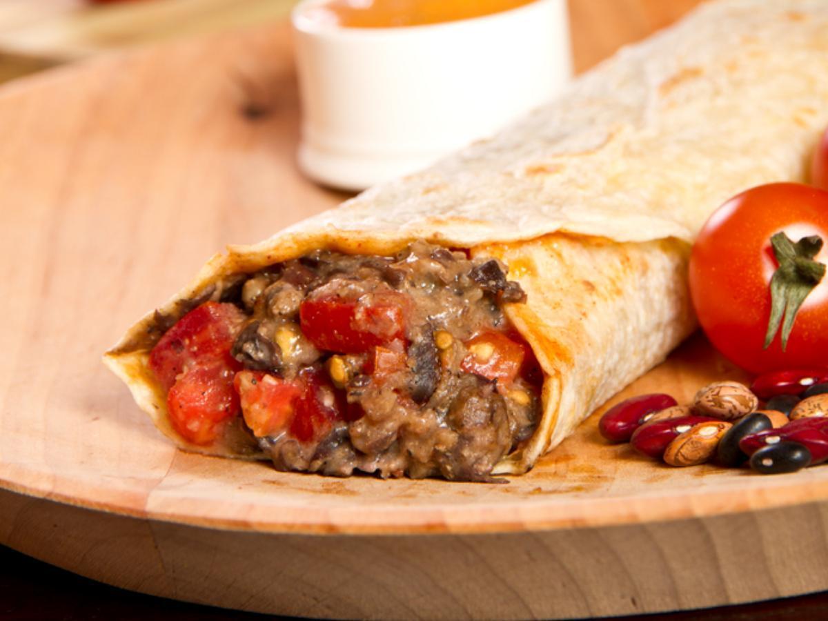 Chicken, Black Bean & Rice Wrap Healthy Recipe