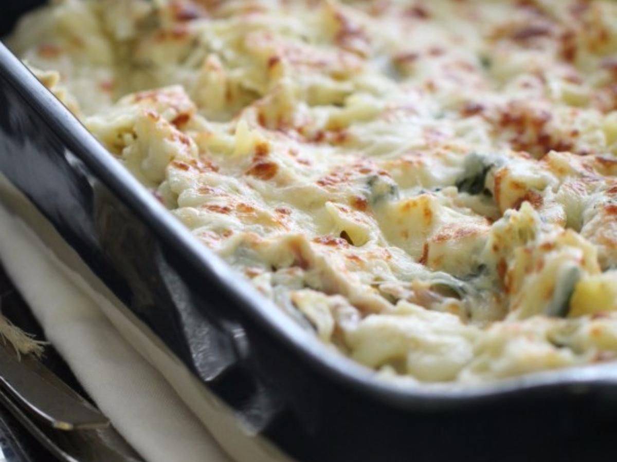 Chicken Florentine Bowtie Pasta Bake Healthy Recipe