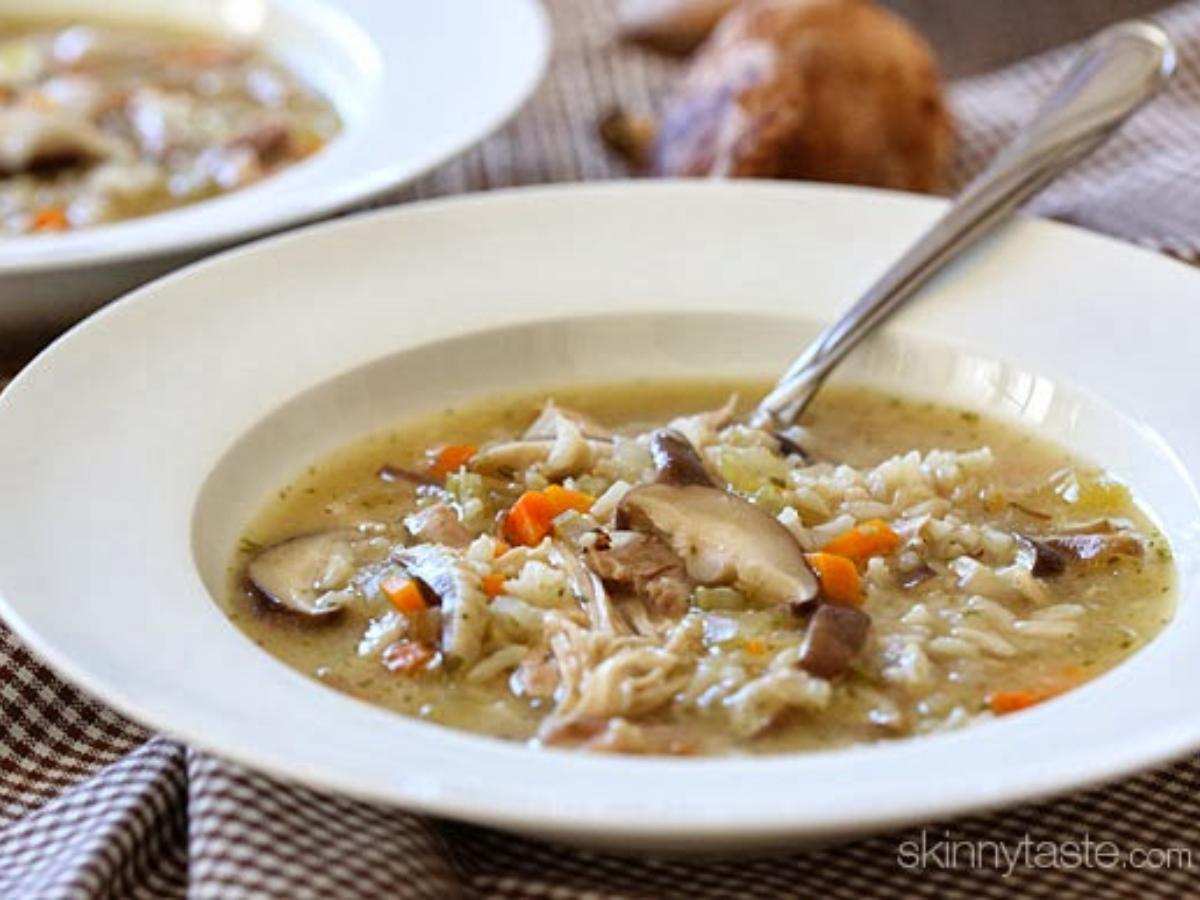 Chicken Shiitake and Wild Rice Soup Healthy Recipe