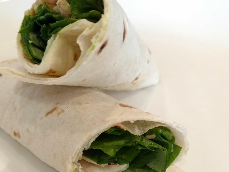Chicken Spinach Wrap Healthy Recipe