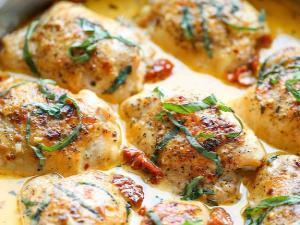 Chicken with Sun-Dried Tomato Cream Sauce Healthy Recipe