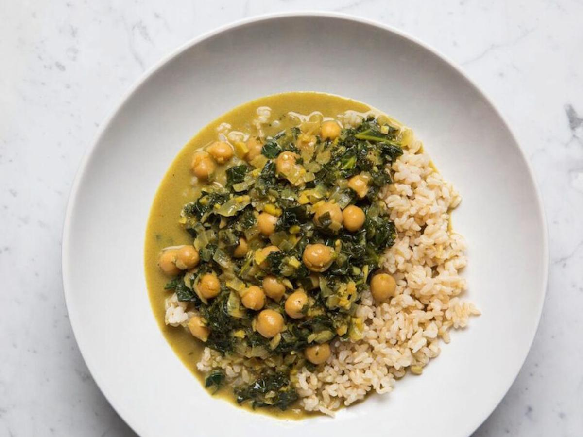Chickpea & Kale Curry Healthy Recipe