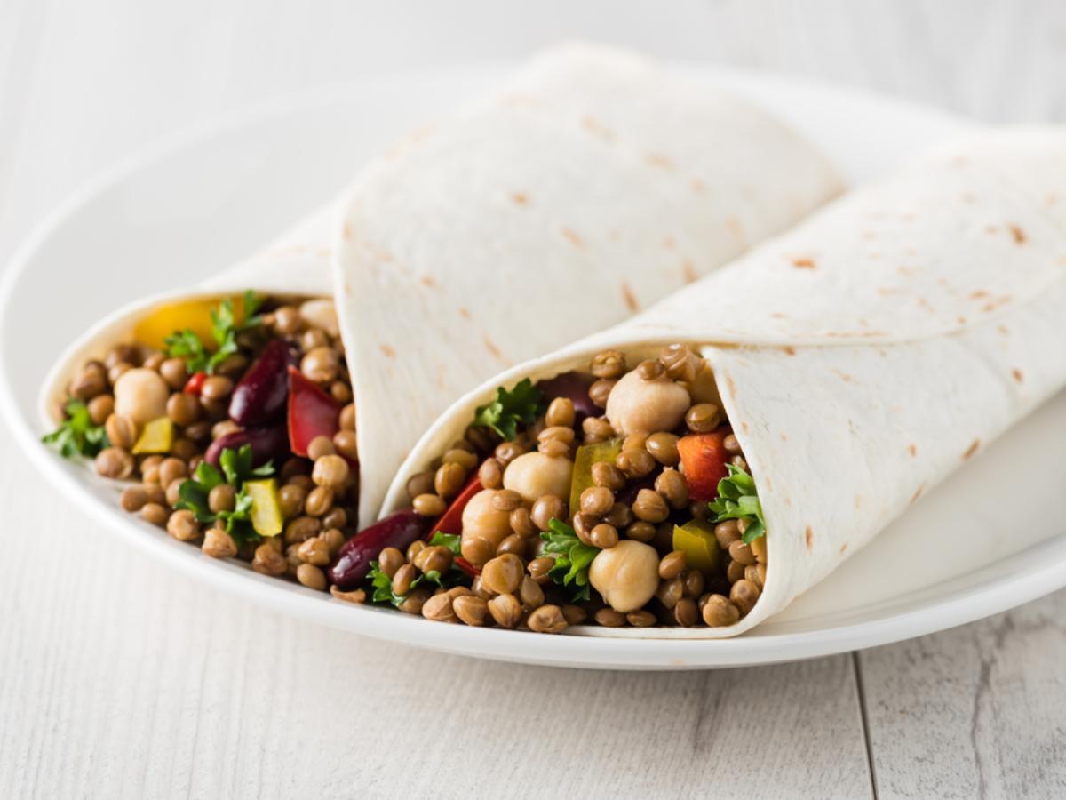 Chickpea Salad Wraps Healthy Recipe