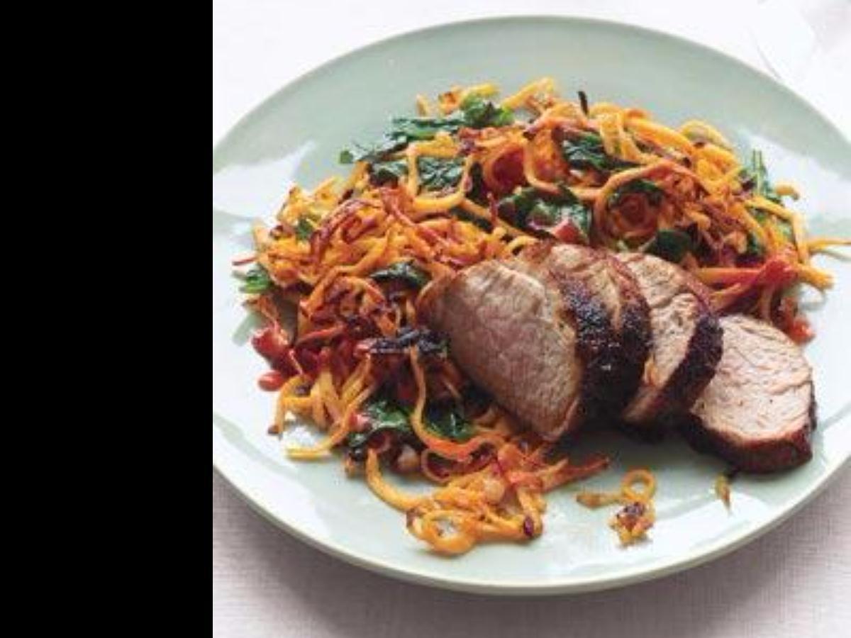 Chili-Glazed Pork With Sweet Potato Hash Healthy Recipe
