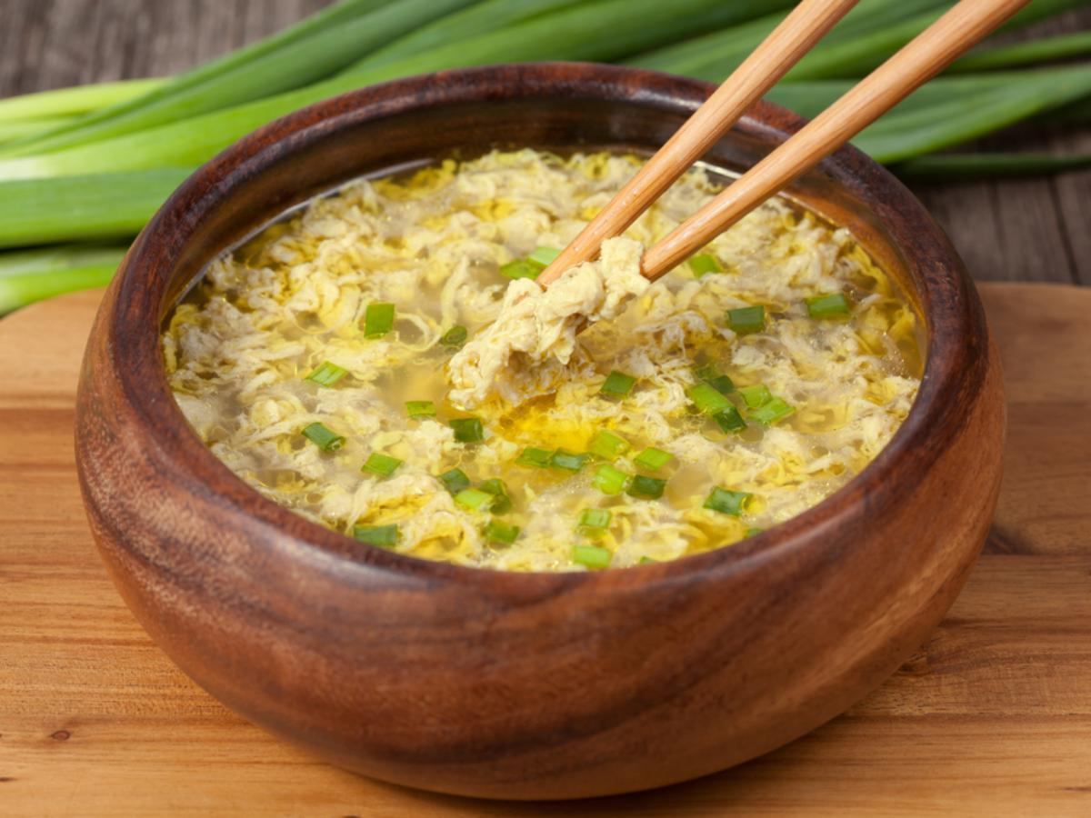 Chinese Egg Drop Soup with Noodles Healthy Recipe
