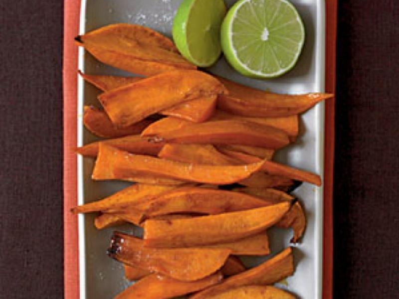 Chipotle-Glazed Sweet Potato Spears with Lime Healthy Recipe
