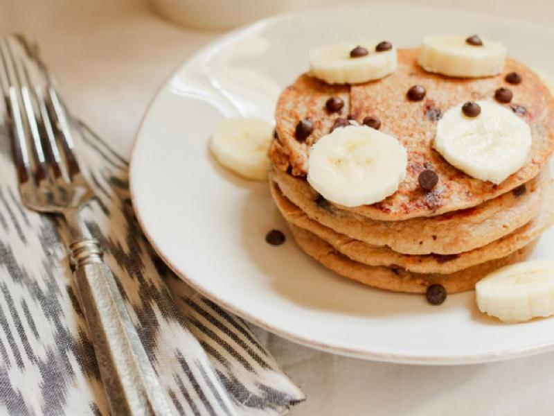 Chocolate Banana Protein Pancakes Healthy Recipe