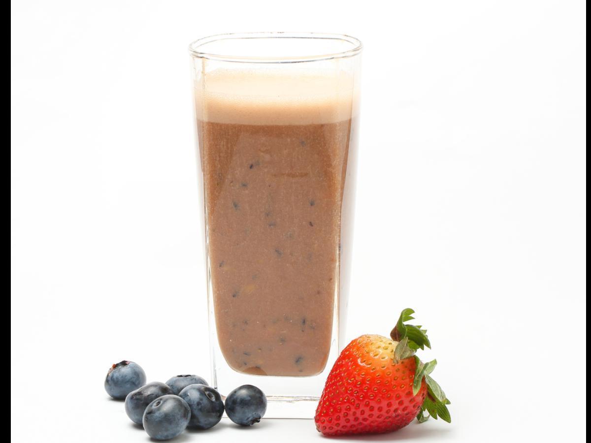 Chocolate Blueberry Protein Shake Healthy Recipe