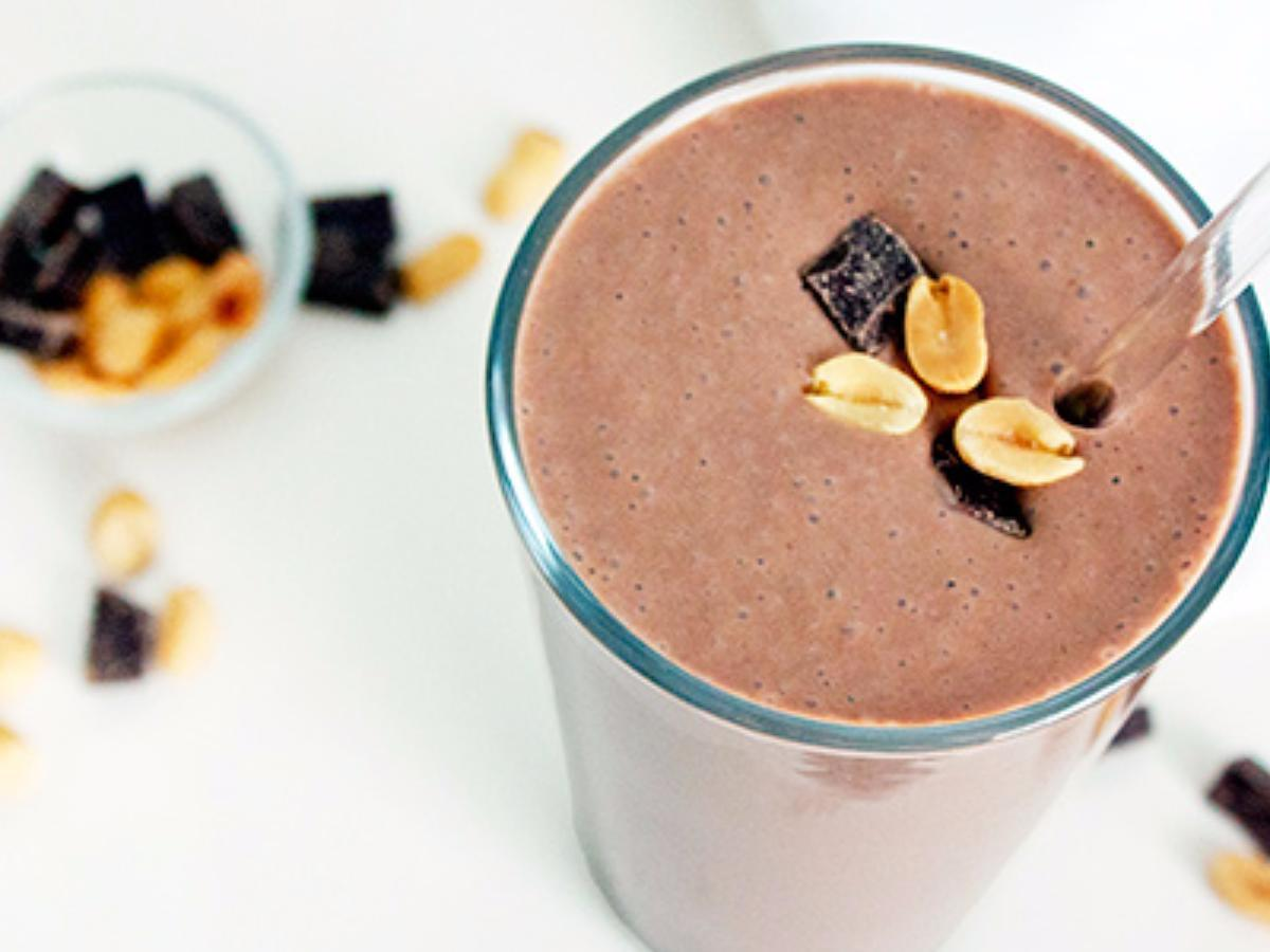 Chocolate Peanut Butter Protein Shake Healthy Recipe