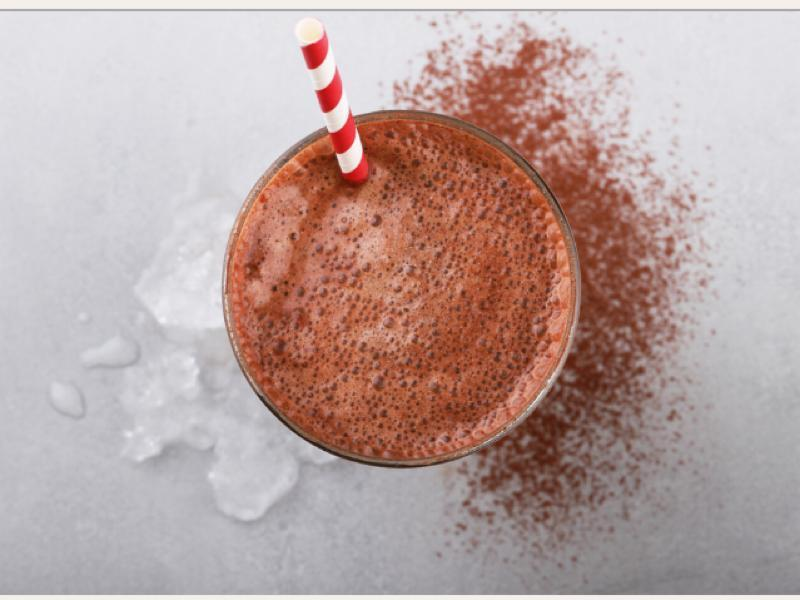 Chocolate Peanut Hazelnut Banana shake Healthy Recipe