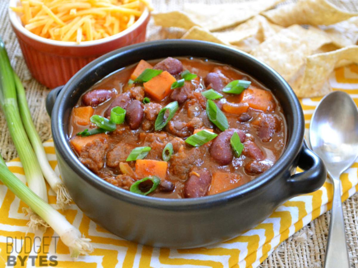 Chorizo Sweet Potato Chili Healthy Recipe