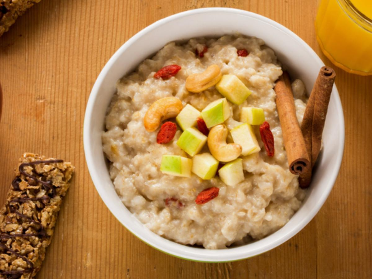 Cinnamon Apple Protein Oatmeal Healthy Recipe
