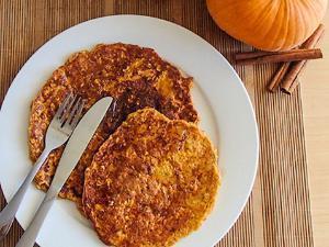 Cinnamon Swirl Pumpkin Pie Protein Pancakes Healthy Recipe