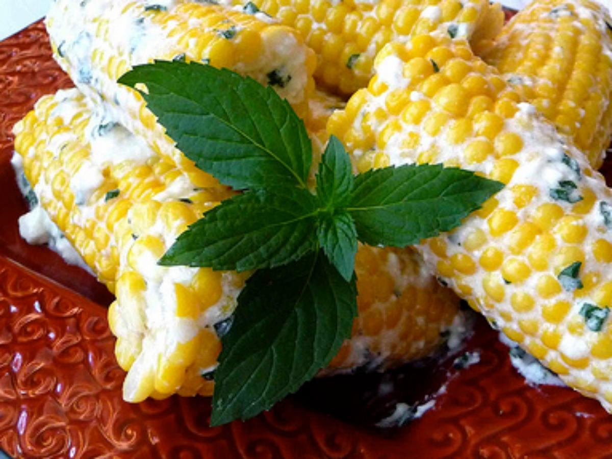 Corn on the Cob with Mint-Feta Butter Healthy Recipe