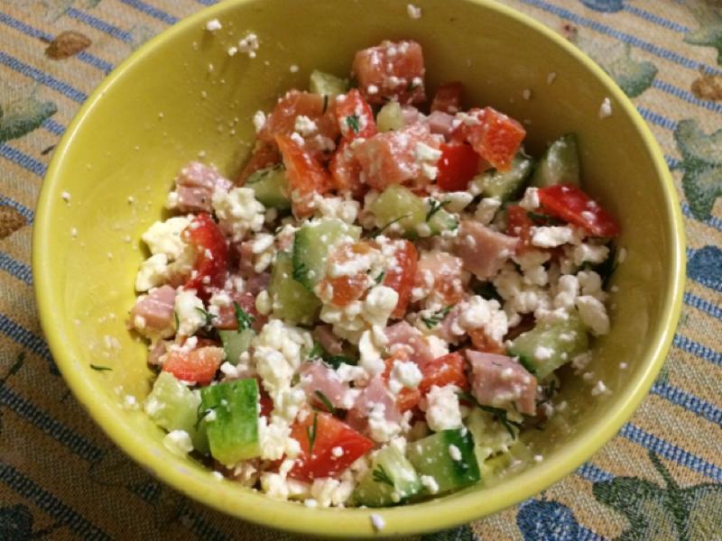 Cottage Cheese Ham Salad Healthy Recipe