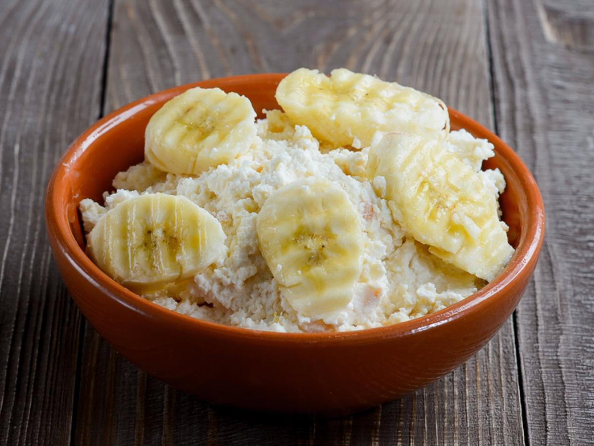 Cottage Cheese with Banana Healthy Recipe
