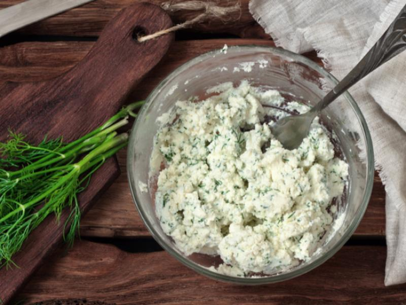 Cottage Cheese with Dill Tuna Healthy Recipe