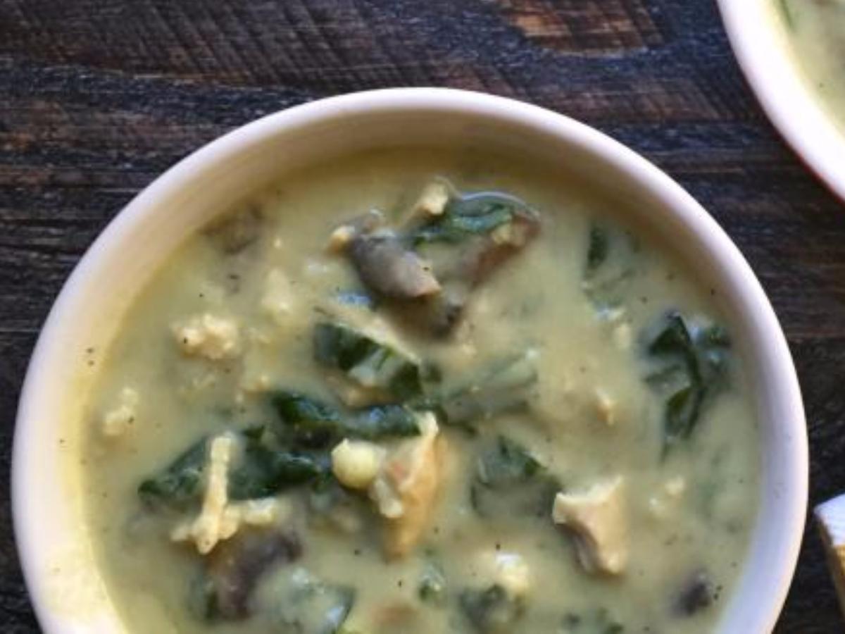 Creamy Chicken Soup Healthy Recipe