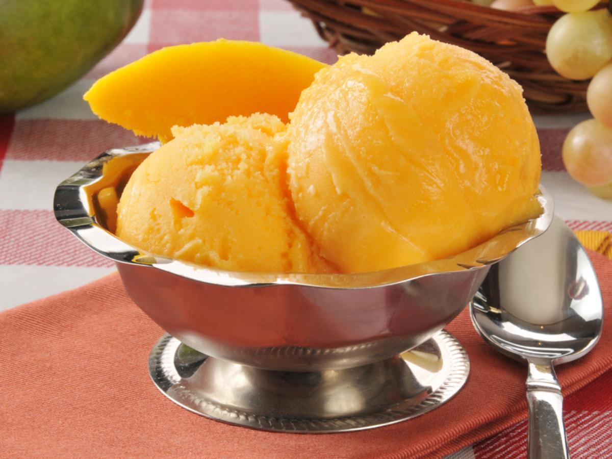 Creamy Mango Sorbet Healthy Recipe