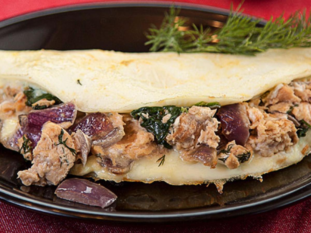 Creamy Salmon Omelet Healthy Recipe