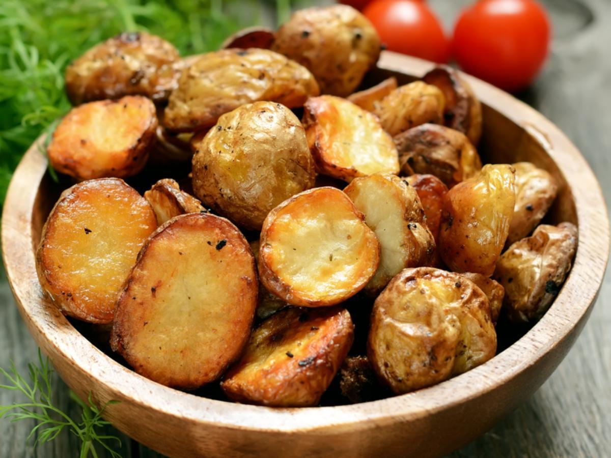 Crispy roast potatoes Healthy Recipe