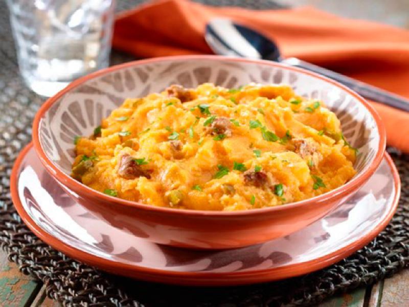 Cuban Polenta with Chorizo & Corn (Tamal en Cazuela) Healthy Recipe
