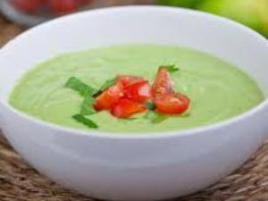 Cucumber Avocado Soup Soupe Glacée à L'avocat Healthy Recipe