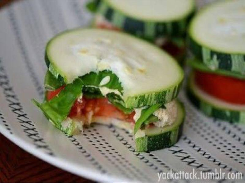 Cucumber Snack Sandwiches Healthy Recipe