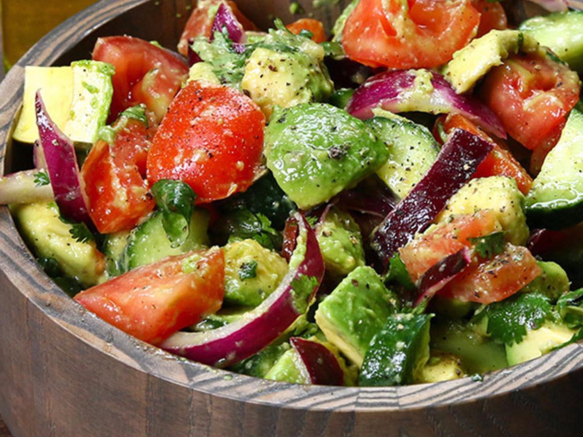 Cucumber, Tomato, and Avocado Salad Healthy Recipe